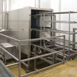 Lavadora de carro para la industria agroalimentaria