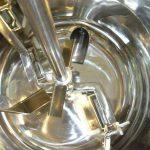 Interior de la máquina marmita de cocción