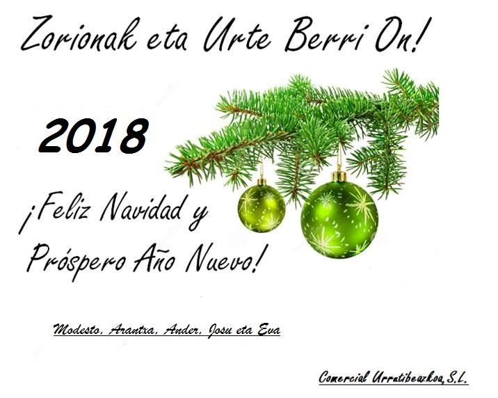 Feliz 2018 desde Urrutibeazcoa