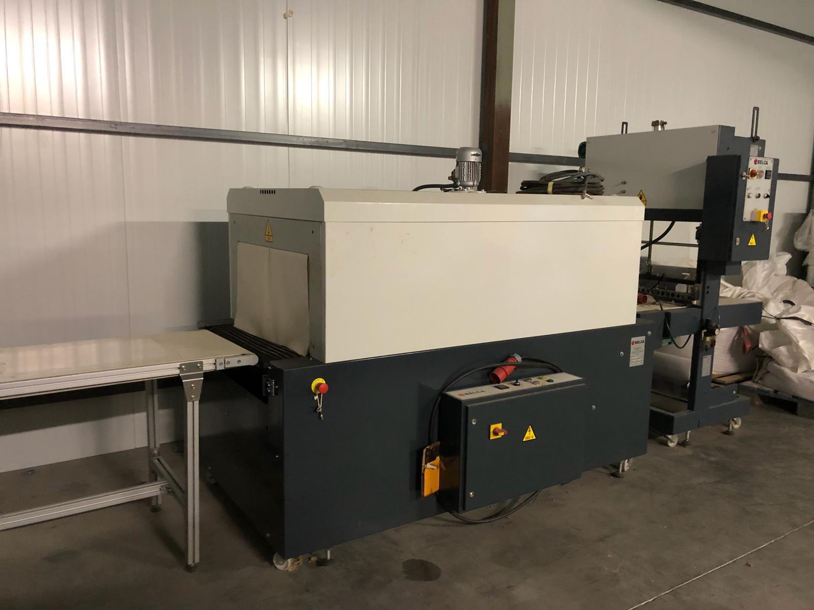 Máquina retractiladora de cajas para sector alimentación